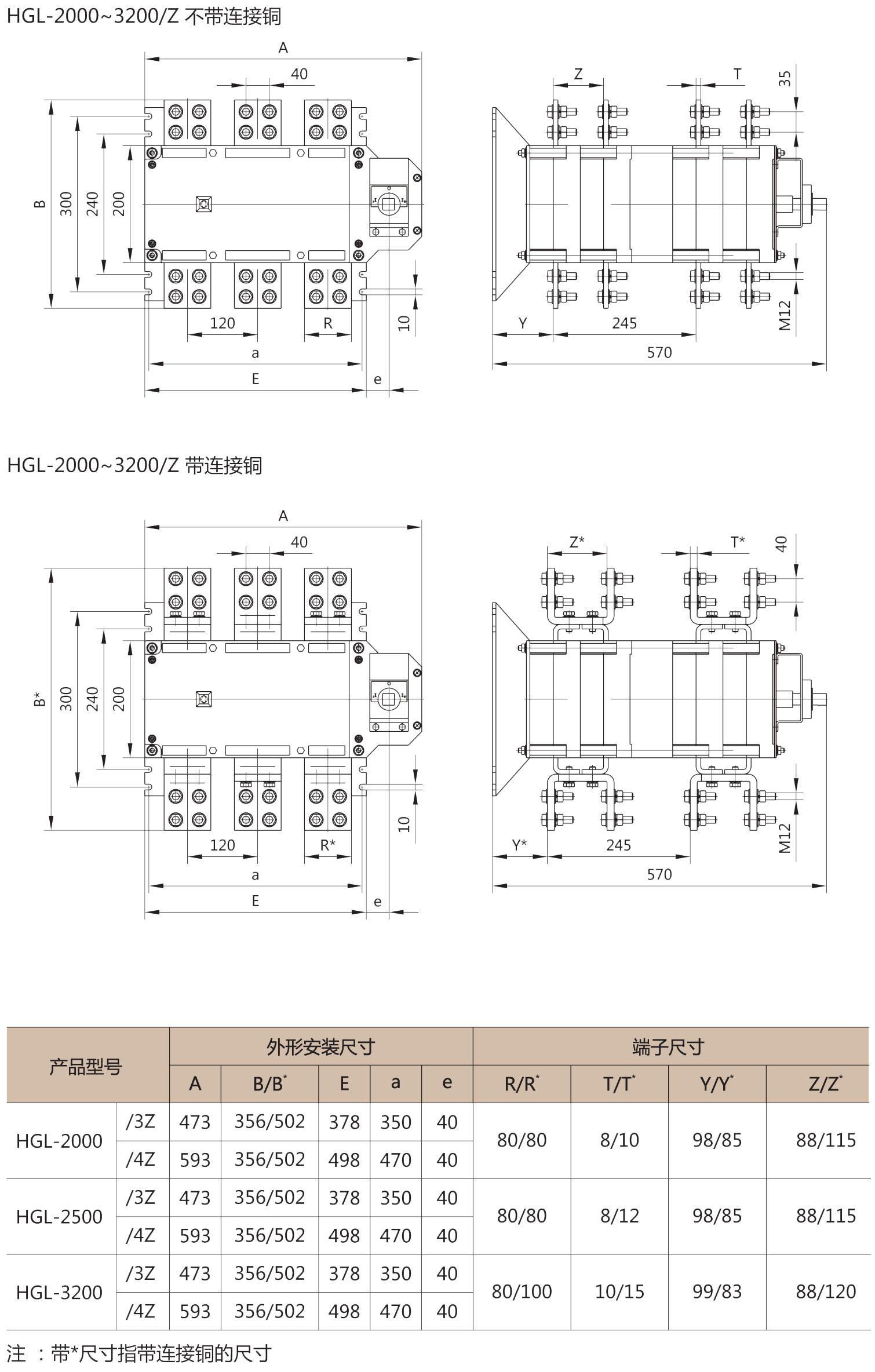 HGL-2000-3200/Z外形安装尺寸