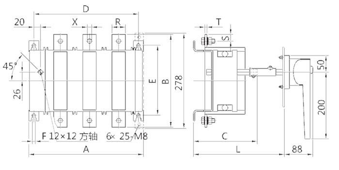 hh15a(qa)-125/3隔离开关