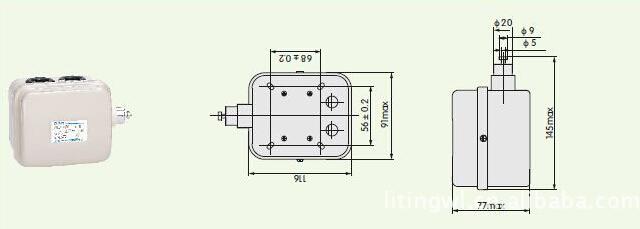 LX101系列断火限位器外形尺寸图
